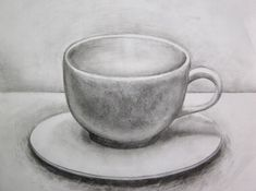 """Kaffeebecher"" 8 x 10 Graphit – Burcu Önal – Join the world of pin Drawing Cup, Coffee Mug Drawing, Shading Drawing, Pencil Sketch Drawing, Object Drawing, Pencil Art Drawings, Art Drawings Sketches, Drawing Ideas, Still Life Sketch"