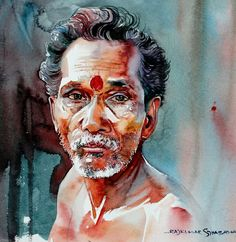 Watercolor Paintings Candidly Capture the Expressive Faces of India