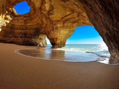 Visit Algarve and discover our top 20 of the places you can't miss like the beautiful Algar de Benagil. Do you want to visit Algarve and don't know where to go? Check here the top 20 of the places to visit in this beautiful region. Porto Portugal Strand, Faro Portugal, Cool Places To Visit, Places To Travel, Places To Go, Holland Strand, Destinations D'europe, Best Places In Portugal, Portugal Travel Guide