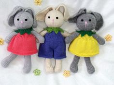 Hey, I found this really awesome Etsy listing at https://www.etsy.com/listing/180950135/toy-doll-bunny-knitting-pattern-flower