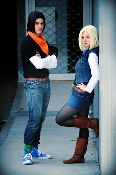 Characters: Android 17 & Android 18 / From: Toei Animation's 'Dragon Ball' Anime Series / Cosplayers: blue-potions as Android 17 & Liechee Cosplay as Android 18 / Photo: Gildartz88 (Axel Förster)