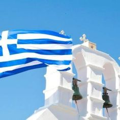 Proud to be a Born-Again Greek Orthodox Christian! Greek Flag, Go Greek, Samos, Orthodox Christianity, Orthodox Icons, Greek Islands, Crete, Time Travel, Athens