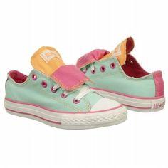 Converse Kids' AS Dbl Tongue Ox Pre/Grd Bch Glass/Rose/Peach Shoes.com
