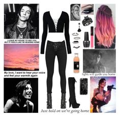 """""""✘ Read D! ✘ And don't you forget the only thing that matters is your heartbeat going strong. Oh, don't you forget that nothing else can matter 'cause you know where I belong. Oh, take me there, won't you take me there? Won't you take me home? ✘"""" by blueknight ❤ liked on Polyvore featuring rag & bone/JEAN, T By Alexander Wang, Miu Miu, Topshop, NARS Cosmetics, OPI and Casetify"""