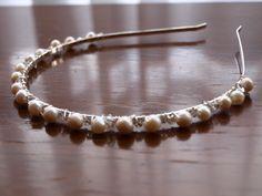 Handmade tiara.  Available from: www.etsy.com/shop/CarolinEmmAccessorie