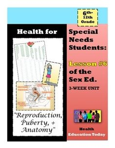 """Sex Ed. For Special Needs Students: Lesson #6 of 10 - I feel so blessed that my """"Best Health Curriculum"""" has touched the lives of thousands of students…After many teacher requests for a """"Special Ed."""" version, here it is!! This is lesson #2 of my """"3-Week Sex Ed. Unit for Special Needs Students,"""" which you can find at: https://www.teacherspayteachers.com/Product/Health-for-Special-Needs-Students-3-Week-Sex-Ed-Unit-1767085"""