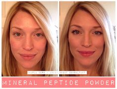 Did you know we have Mineral Peptide Powder?? It's water resistant, has an SPF, is super blendable, extremely light (to wear), comes in 3 shades, can be paired with a baby soft, hypoallergenic Kabuki brush, AND the peptides help reverse the aging process! Does your powder, liquid foundation, or cover up reverse your aging while you wear it??? Time for you to make the switch! Offered in 3 shades. I wear LIGHT under my eyes and around my nose, MEDIUM all over and BRONZE to contour EVERY DAY!!!