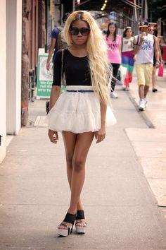 dark skin bleach blonde in asia ;-) gotta love it