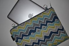 """15 inch mac book Laptop sleeve  / Foam Padded with - 15"""" case for mac air, pro, and more - Zipper close / Removable  Strap  by Darby Mack"""