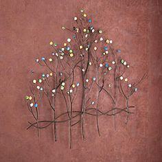 @Overstock - Grace your wall with this decorative gem tree wall sculpture and you're sure to be mesmerized. The color variety among the gems is eye-catching and the 3-dimensional metal construction of the sculpture is sure to be the focal point of any room.  http://www.overstock.com/Home-Garden/Gemstone-Forest-Wall-Sculpture/4662415/product.html?CID=214117 $68.49
