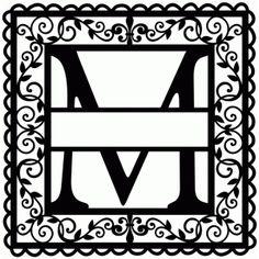 Silhouette Design Store - View Design wrought iron vine initial m Cricut Monogram, Monogram Fonts, Cricut Vinyl, Cricut Fonts, Custom Metal Art, Initial M, Silhouette Design, Silhouette Cameo, Vinyl Designs