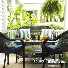 Create an outdoor oasis Outdoor Spaces, Outdoor Living, Outdoor Decor, Garden Furniture, Outdoor Furniture Sets, Reno, Outdoor Projects, Cool Things To Buy, Outdoor Gardens