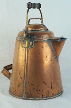 Antiques and Collectibles - Copper Cowboy Coffee Pot - circa 1910