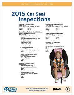Car Seat Safety Inspections 2015: Find out more at http://www.etch.com/about_us/community_outreach/injury_prevention/safe_travels.aspx
