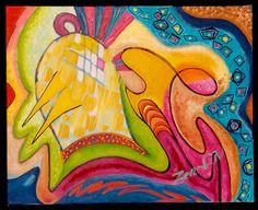 Birdcage! by Zenobia Abstract Art