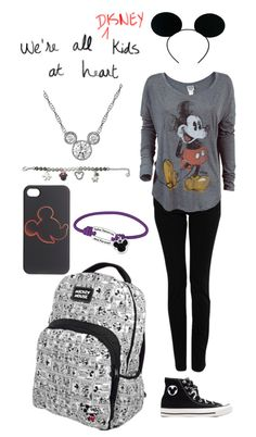 """""""Mickey Mouse Outfit :D"""" by my-name-is-lily ❤ liked on Polyvore"""