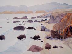 """Robin Purcell (Born 1956), """"Near San Simeon"""""""