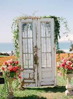 vintage doors to the aisle