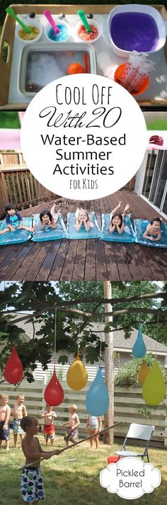 Cool Off With 20 Water-Based Summer Activities for Kids #summertimecraftforkids