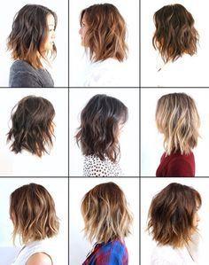 varios cabelos medios long bob