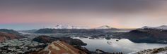 Catbells Dawn Panorama (1 of 1) by jamesqgordon