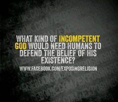 #IncompetentGod