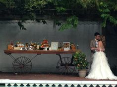 Wedding Dessert Buffet by Two Sweets Bake Shop, Floral by Bluegrass Chic, Stationery by Dogwood Blossom Stationery
