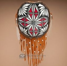 very cool.  Painted Turtle Shell Shield made by an Acoma Indian artist