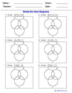 math worksheet : venn diagram worksheets  word problems using three sets i am  : Math Sets Worksheets
