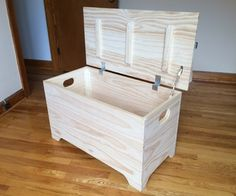 Wooden storage box is a simple way to store seasonal and temporary items. Wooden storage boxes can be used in the garage Diy Storage, Storage Boxes, Storage Chest, Wood Storage, Furniture Projects, Wood Projects, Diy Furniture, Furniture Design, Woodworking Projects Diy