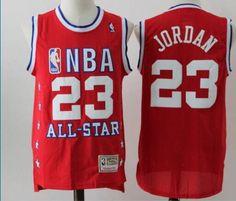Bulls #23 Michael Jordan Red Stitched All Star Stitched NBA Jersey