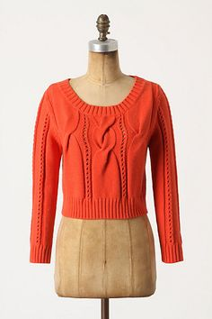 Tangerine Sweater by Anthropologie