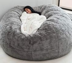 Bean Bag Chair by Lovesac. to be feature… Bean Bag Chair by Lovesac. to be feature Source Giant Bean Bag Chair, Bean Bag Bed, Fluffy Bean Bag Chair, Love Sack Bean Bag, Bean Bag Room, Big Bean Bag Chairs, Bean Bag Living Room, Room Ideas Bedroom, Teen Bedroom