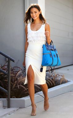Jamie Chung prepared for anything with this large tote.