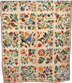 Haring Appliqué Quilt. Reminds me of the Bird of Paradise quilt AKA Civil War Bride quilt.