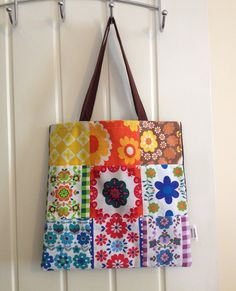 Vintage Fabric Patchwork Tote Bag