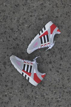 ADIDAS EQT GUIDANCE 93 - GREY/RED & BLACK/YELLOW @ KITH NYC
