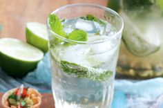 lime and mint sodas