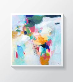 Abstract painting Original mixed media painting por VictoriAtelier