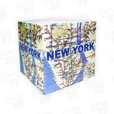 New York Subway Notizblock Würfel #Map #MTA #NewYorkCity #Subway #NYC #Notepad #Notes