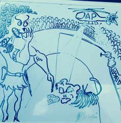 La de leon armao contra mono amarrao (el circo romano y la penetracion extranjera) boceto