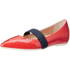 Anyi Lu Women's Dora Ballet Flat ($395) ❤ liked on Polyvore featuring shoes, flats, ballet flat shoes, ballet pumps, mary jane ballet flats, pointed-toe flats and pointy toe ballet flats