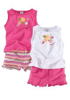 Produkttyp , T-Shirt & Shorts, |Material , Jersey, |Materialzusammensetzung , Obermaterial: 100% Baumwolle, |Qualitätshinweise , Hautfreundlich Schadstoffgeprüft, |Farbe , Pink-Weiß-Gestreift, |Pflegehinweise , Maschinenwäsche, |Auslieferung , liegend, | ...