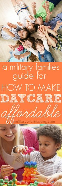 Childcare and Daycare is expensive, but it doesn't have to be! Check out these tips for how military families can find affordable child care / day care and save more money each month. http://thriftyshopaholic.com/how-military-families-can-find-affordable-child-care/