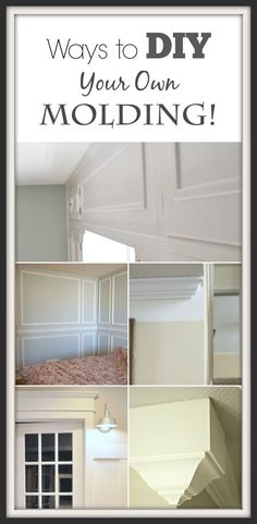 DIY Molding is easier than you think! This site also has hundreds of other tutorials and tips on painting anything in or outside of your home!  A must REPIN for DIYers