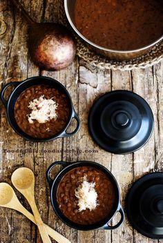 Lentejas con curry rojo y centollo. @Abu mnsar Saad&Chic