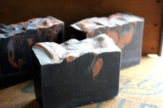 Campfire Vegan Cold Process Soap - Smells just like that lingering sweet wood smoke smell you get in your hair and clothes after a bonfire--minus the sulfur notes!