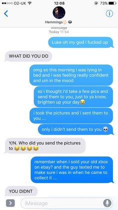5sos Fake Texts — Wrong number
