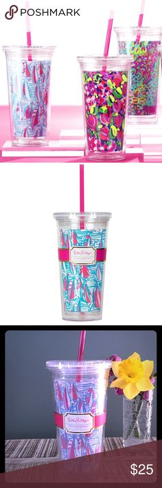 NEW 🎉 Lilly Pulitzer RRR Drink Tumbler Brand new Lilly Pulitzer cold drink tumbler featured in Red Right Return or RRR. Holds up to 20 ounces. Lilly Pulitzer Other