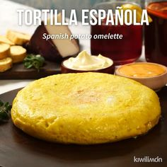 Tortilla Española de Patata - Flavor Tutorial and Ideas Mexican Food Recipes, Vegetarian Recipes, Cooking Recipes, Cooking Icon, Tortillas, Savoury Baking, Vegan Baking, Tasty Dishes, Food Videos
